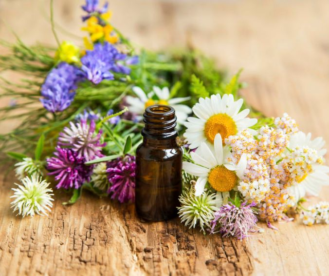 41101925 - essential oil with natural herbs , alternative medicine